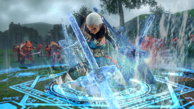 File:Hyrule Warriors Giant Blade Impa creating several Giant Blades with Hydrokinesis (Level 1 Giant Blade).png