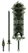 Hyrule Warriors Artwork Demon Blades (Concept Art)