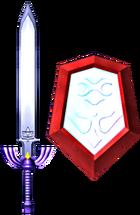 Master Sword and Mirror Shield (Soul Calibur II)