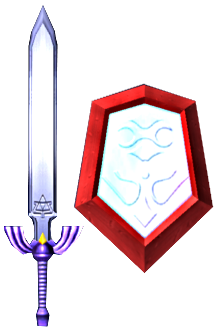 File:Master Sword and Mirror Shield (Soul Calibur II).png
