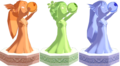 The Wind Waker Golden Goddess Statues Din, Farore, & Naryu (Render).png