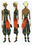 Skyward Sword Artwork Impa Uncloaked (Concept Art)
