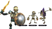 Hyrule Warriors Enemy Units Stalfos & Stalchildren (Render)