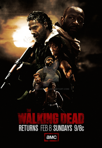 File:The walking dead mid season 5 poster by jevangood-d8auqjz.png