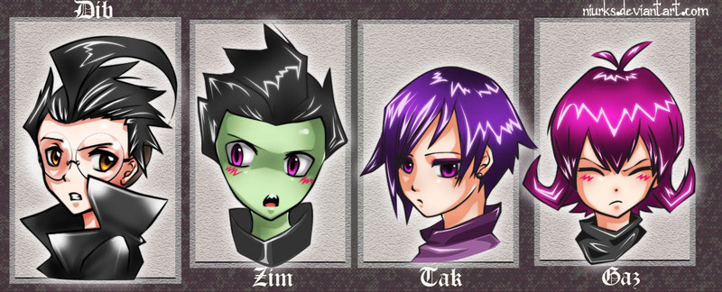 Image - Invader zim characters by niurks-d30kfvh.jpg ... Invader Zim Characters