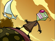Zim out of his Disguise (Attack of the Saucer Morons)