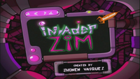 Invader ZIM Title Card