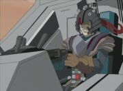 Thomas at the controls of his Zoid