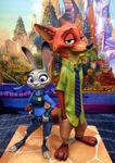 Judy and Nick Statue