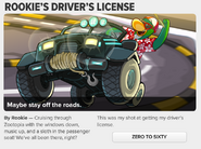 Rookie's Driver's License