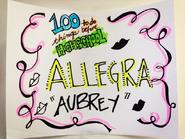 Allegra as Aubrey