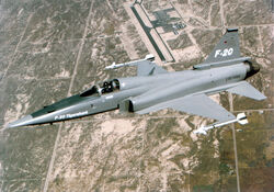 F-20 flying