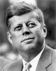 JFK White House portrait looking up lighting corrected