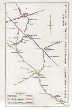 Aylesbury, High Wycombe, Princes Risboro, Quainton Road & Verney Ashendon RJD 146