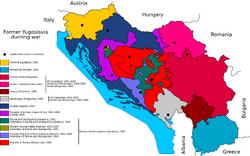 Former Yugoslavia durning war