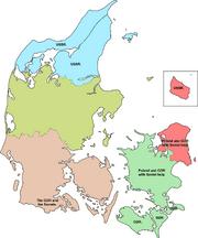 Invasion occupatin of Denmark regions.