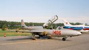 PZL TS-11 Iskra of Polish Air Force (reg. 1406), static display, Radom AirShow 2005, Poland