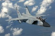 Russian Air Force MiG-31 inflight Pichugin