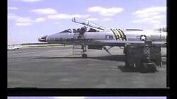 The last F100 Super Sabre flight F-100