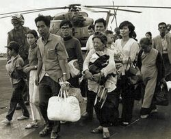 Vietnamese refugees on US carrier, Operation Frequent Wind