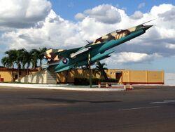 San Antonio de los Baños airfield gate guardian