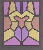 Stained glass (Zamorak) built