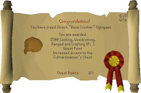 Recipe for Disaster (Freeing Skrach Uglogwee) reward scroll