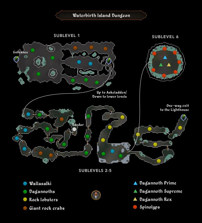 Waterbirth Dungeon Map