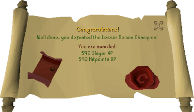Lesser Demon Champion reward