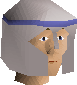 White decorative helm chathead