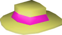 Pink boater detail