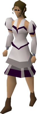 White elegant clothing equipped