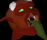 Lesser demon mask detail