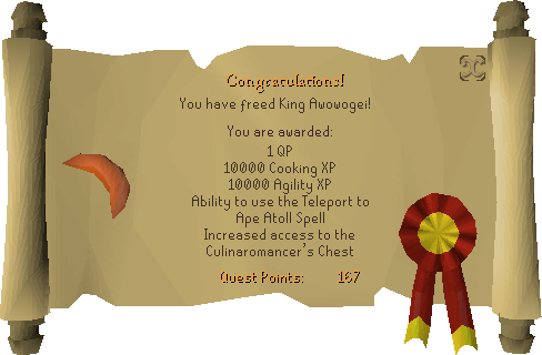 Recipe for Disaster (Freeing King Awowogei) reward scroll