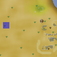 Hot cold clue - West of Uzer map