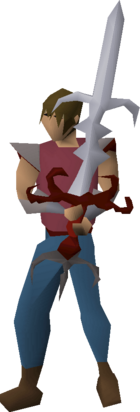 Zamorak godsword (or) equipped