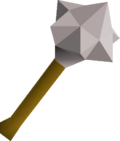 White mace detail