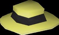 Black boater detail