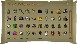 Holiday item return