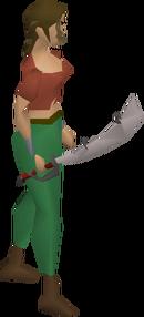 Brine sabre equipped