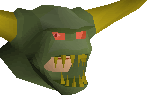 Jungle demon mask chathead
