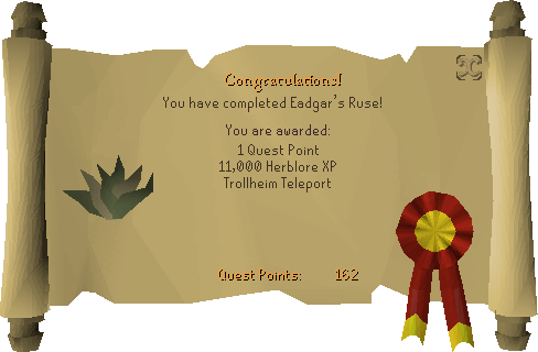 Eadgar's Ruse reward scroll