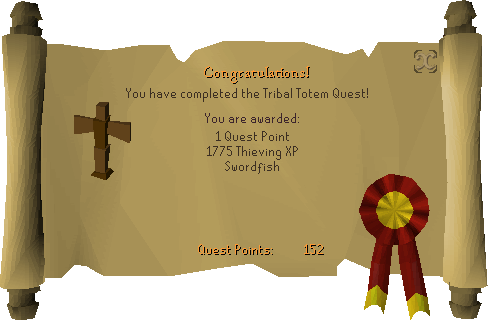 Tribal Totem reward scroll