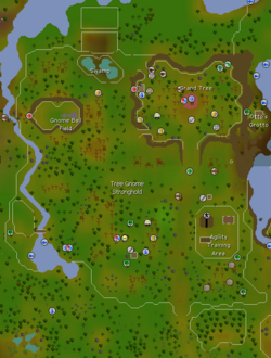 Tree Gnome Stronghold map