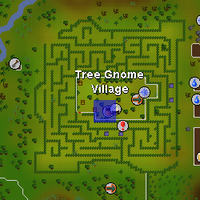 how to get in tree gnome village