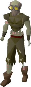 Gravedigger outfit (male) equipped