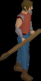 Bronze javelin equipped