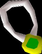 Emerald amulet detail
