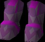 Ancient d'hide boots detail