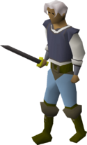 Iron longsword equipped